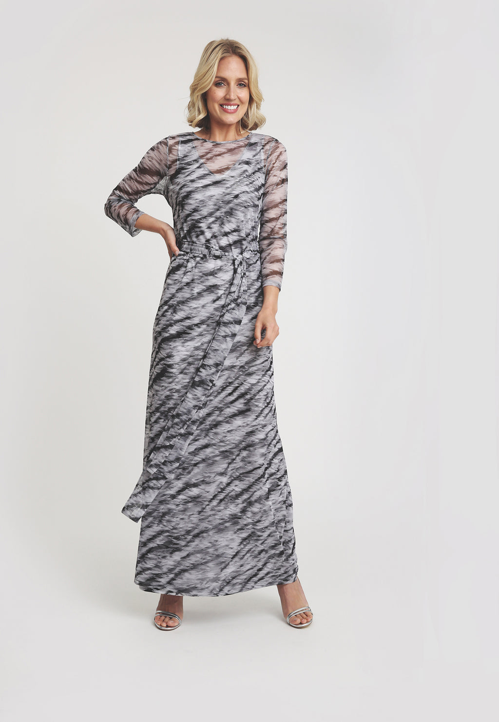 Loren Wrap Dress in Assam front view
