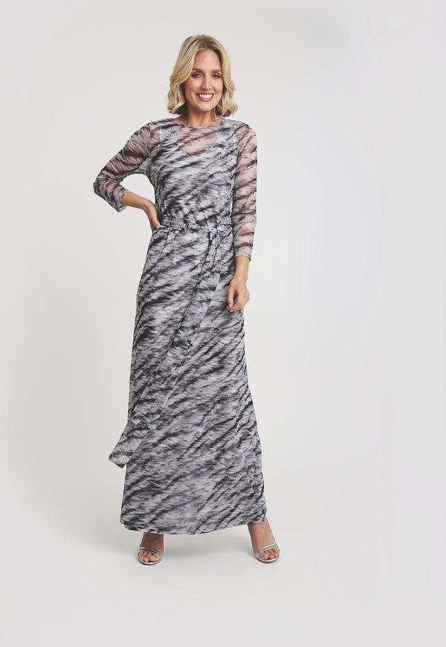 Loren Wrap Dress in Assam