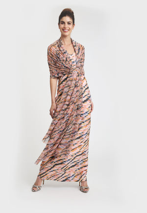 Lavinia Long Dress in Bengal