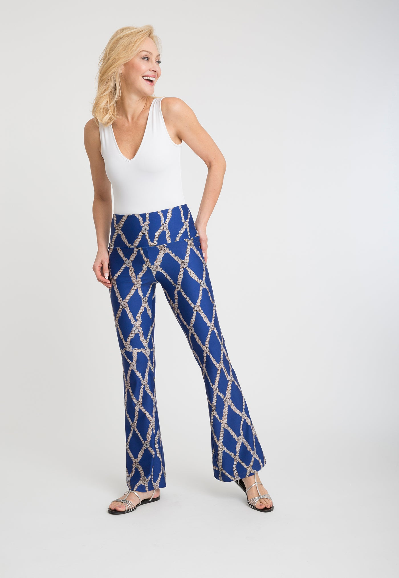 Elaine Pant in Sea Rope front view