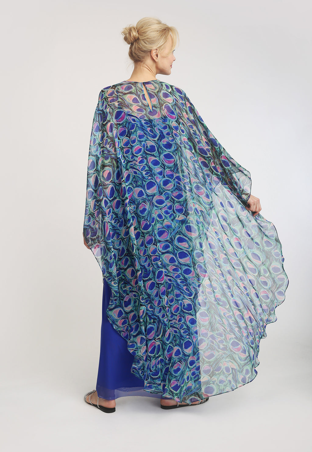 Taylor Poncho in Jaipur back view