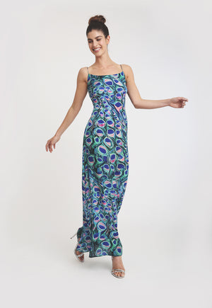 Michelle Silk Slip Dress in Jaipur
