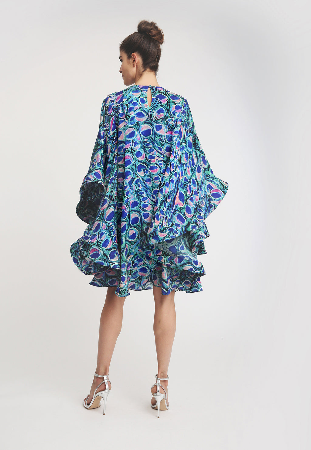 Mary Short Kaftan in Jaipur back view