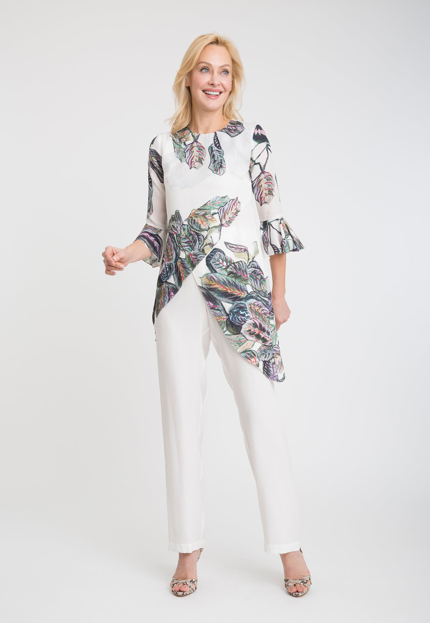 Kate Blouse in Tropical Leaves