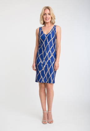 Lavinia Short Dress in Sea Rope front view