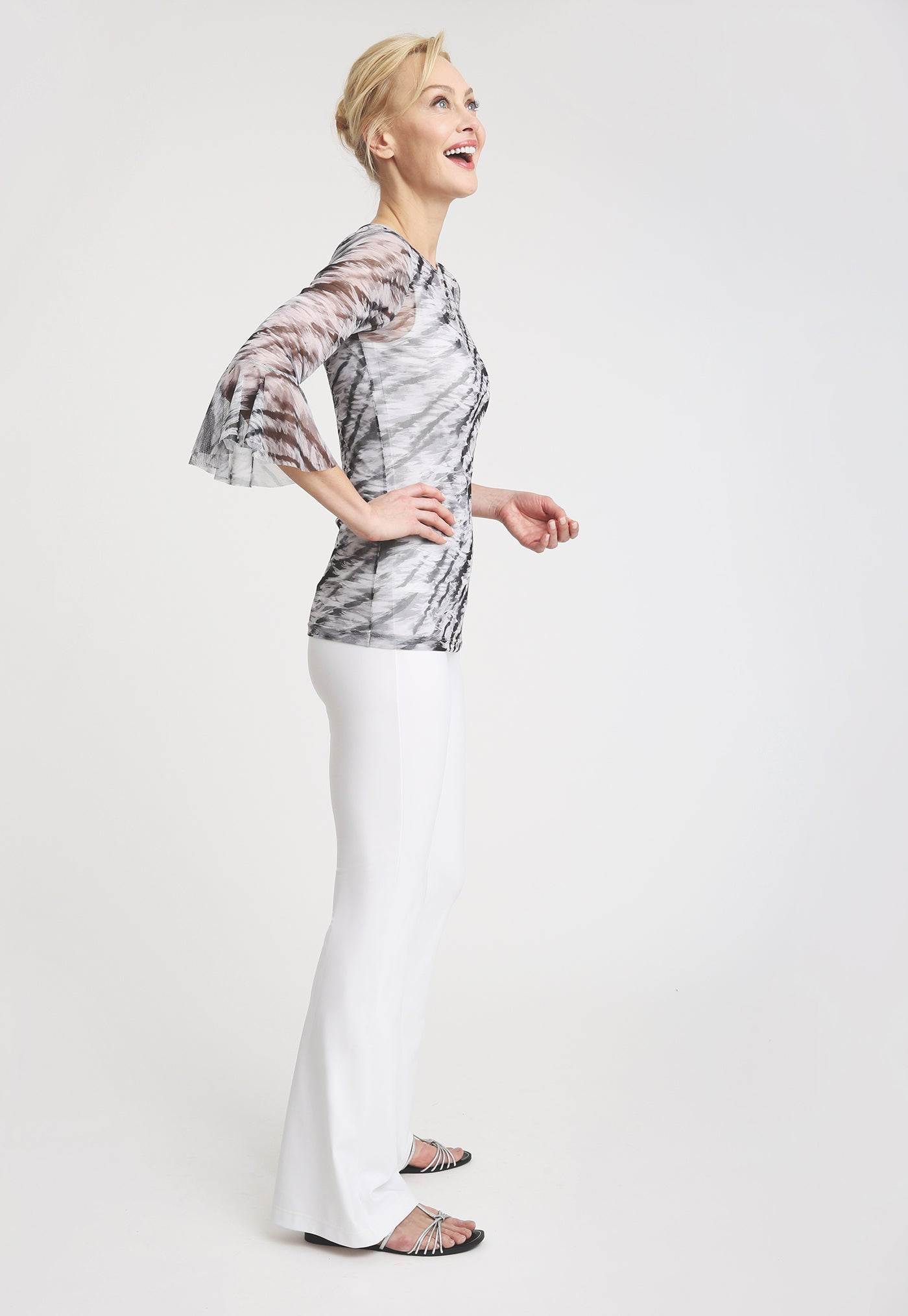 Olivia Mesh Shirt in Assam side view