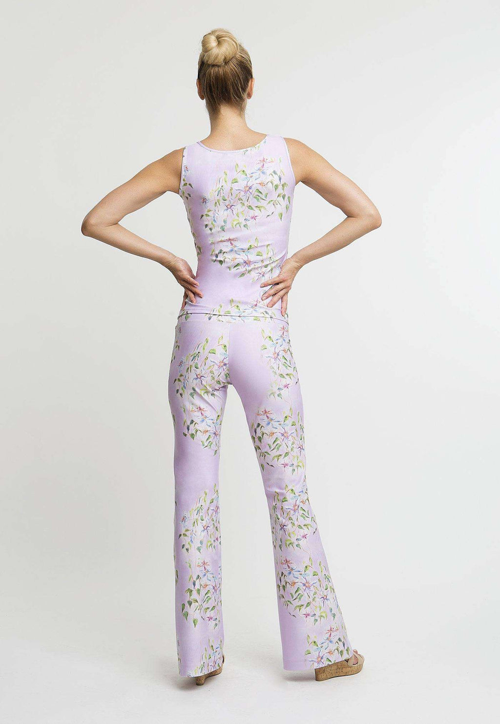 Agnes Tank Top in Sagaponack with matching pants back view