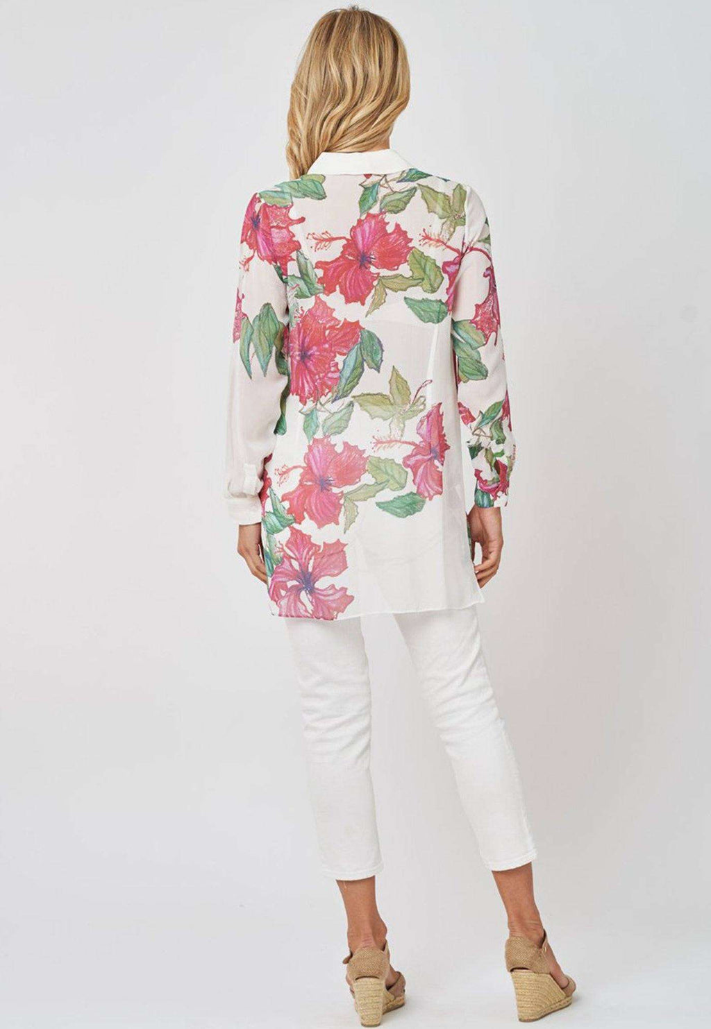 Ala Blouse in Hibiscus
