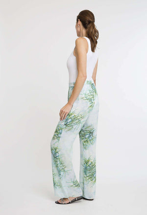 Dora Silk Pant in Tulum side view