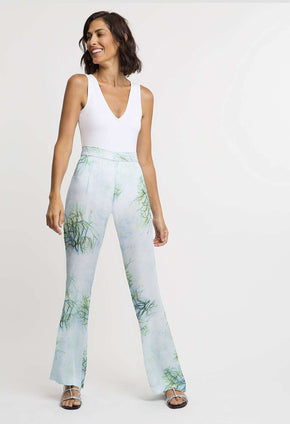 Dora Silk Pant in Tulum front view