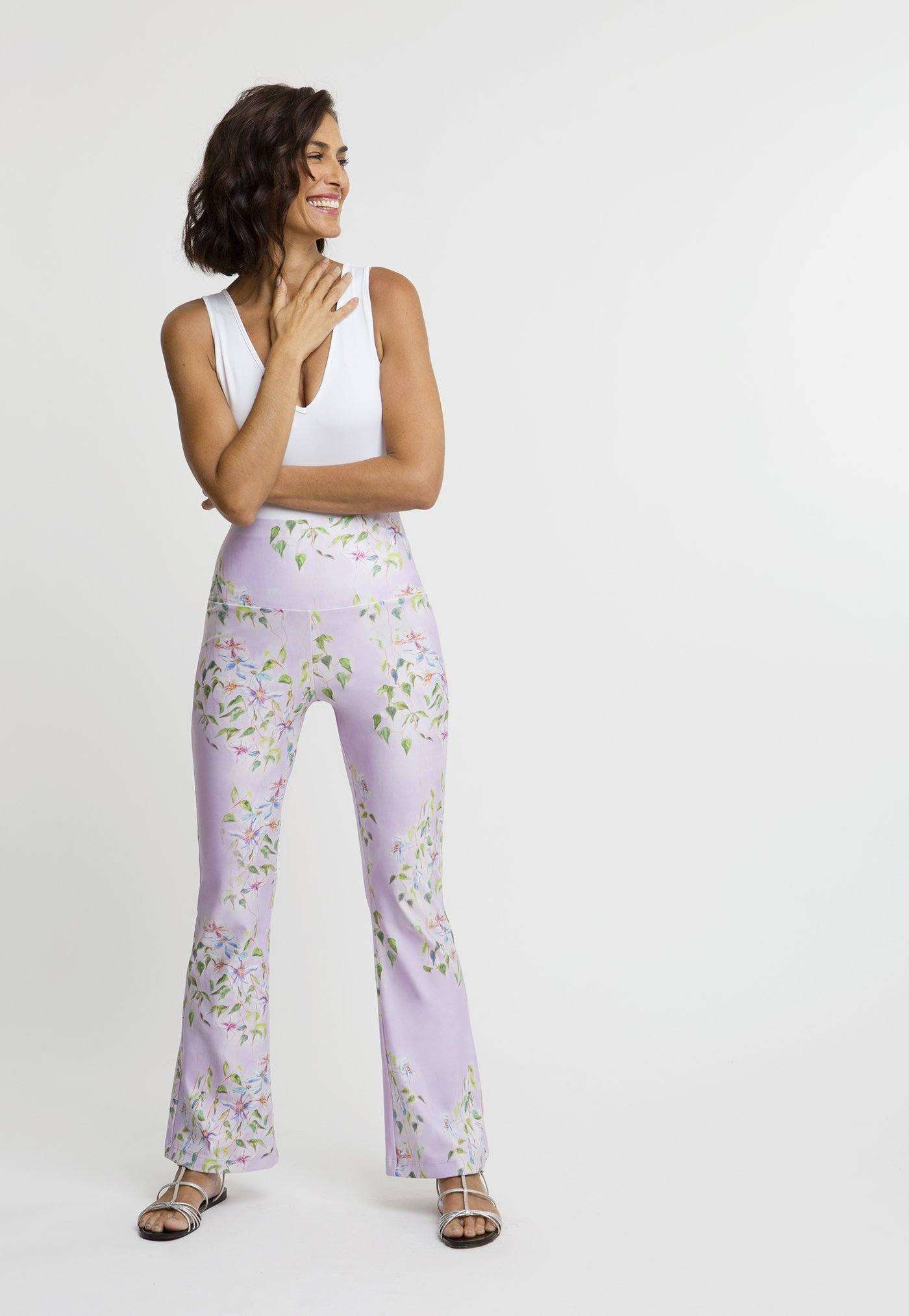 Elaine Stretch Pant in Sagaponack front view