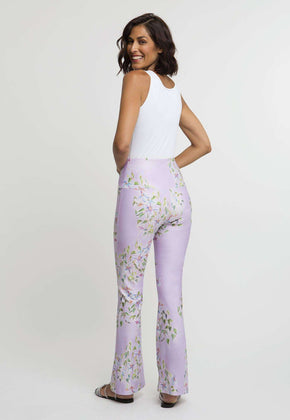 Elaine Stretch Pant in Sagaponack back view