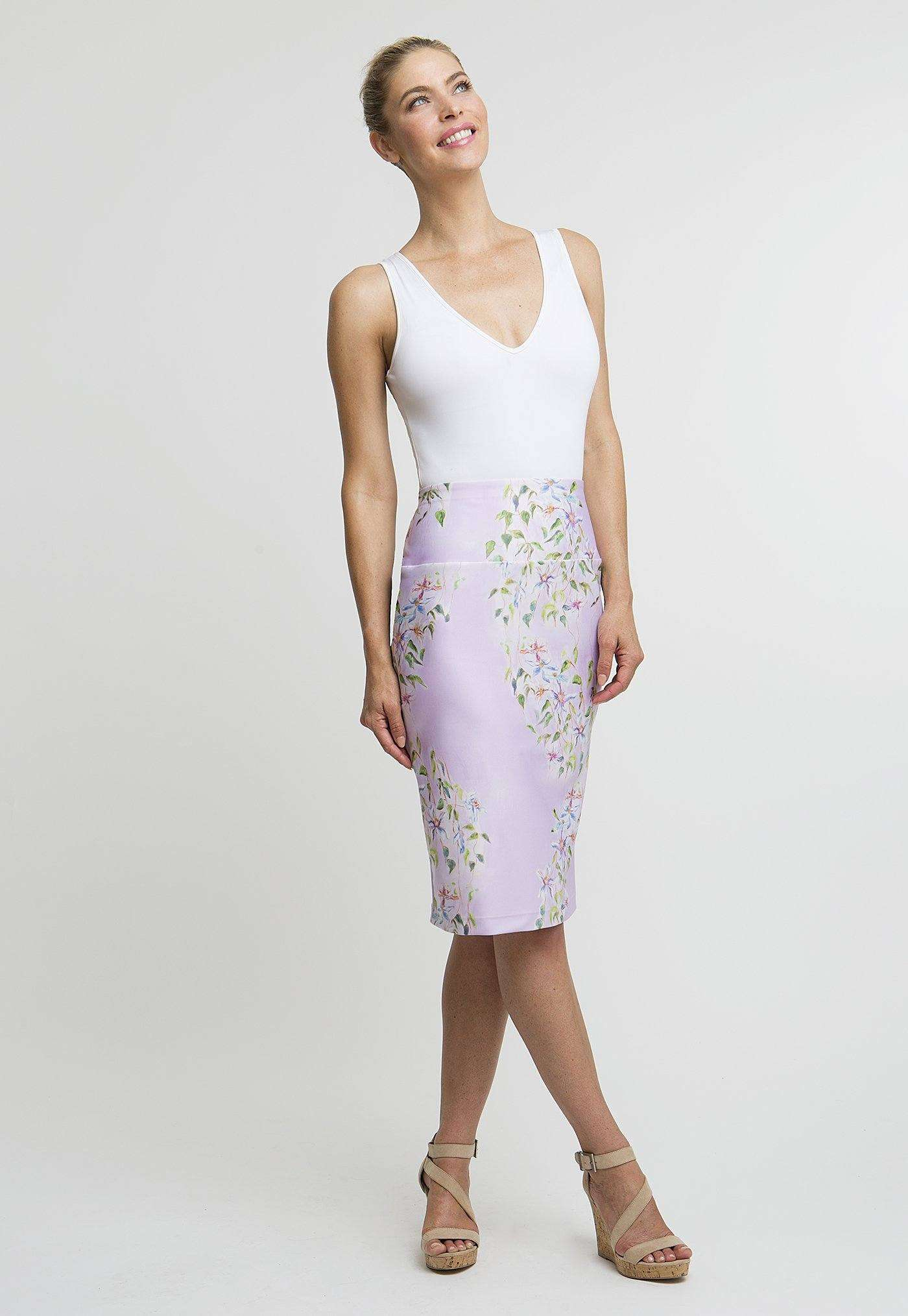Florence Tube Skirt in Sagaponack front view
