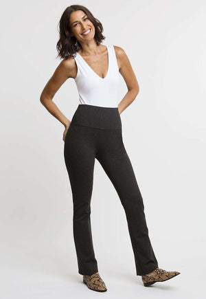 Gabriele Pant in Dark Heather Grey front view