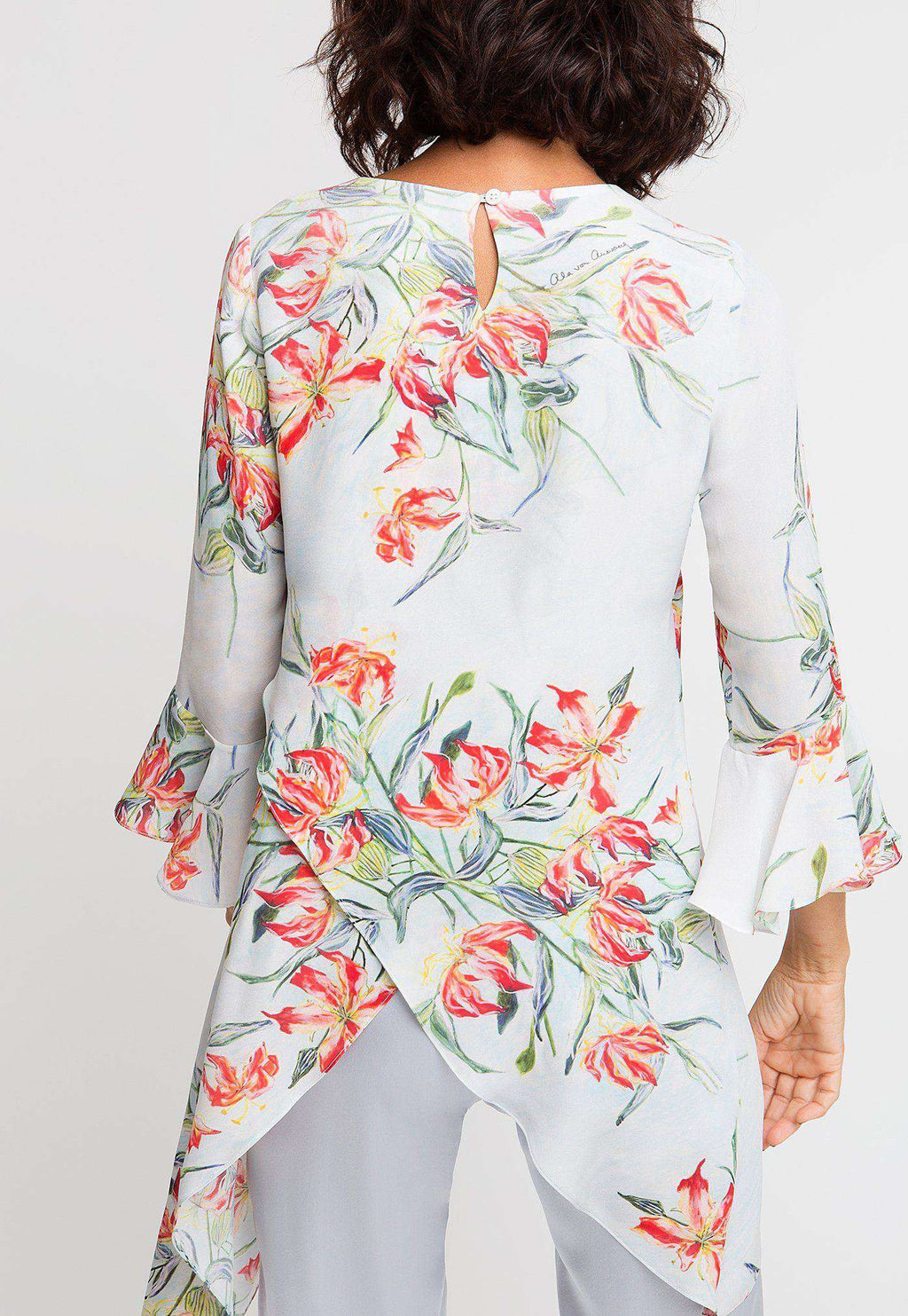 Kate Silk Top in Water Mill