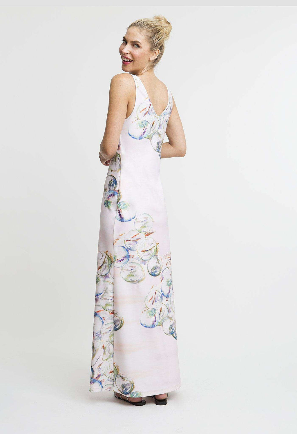 Lavinia Long Dress in Nonsuch back view