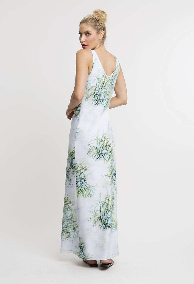Lavinia Long Dress in Tulum back view
