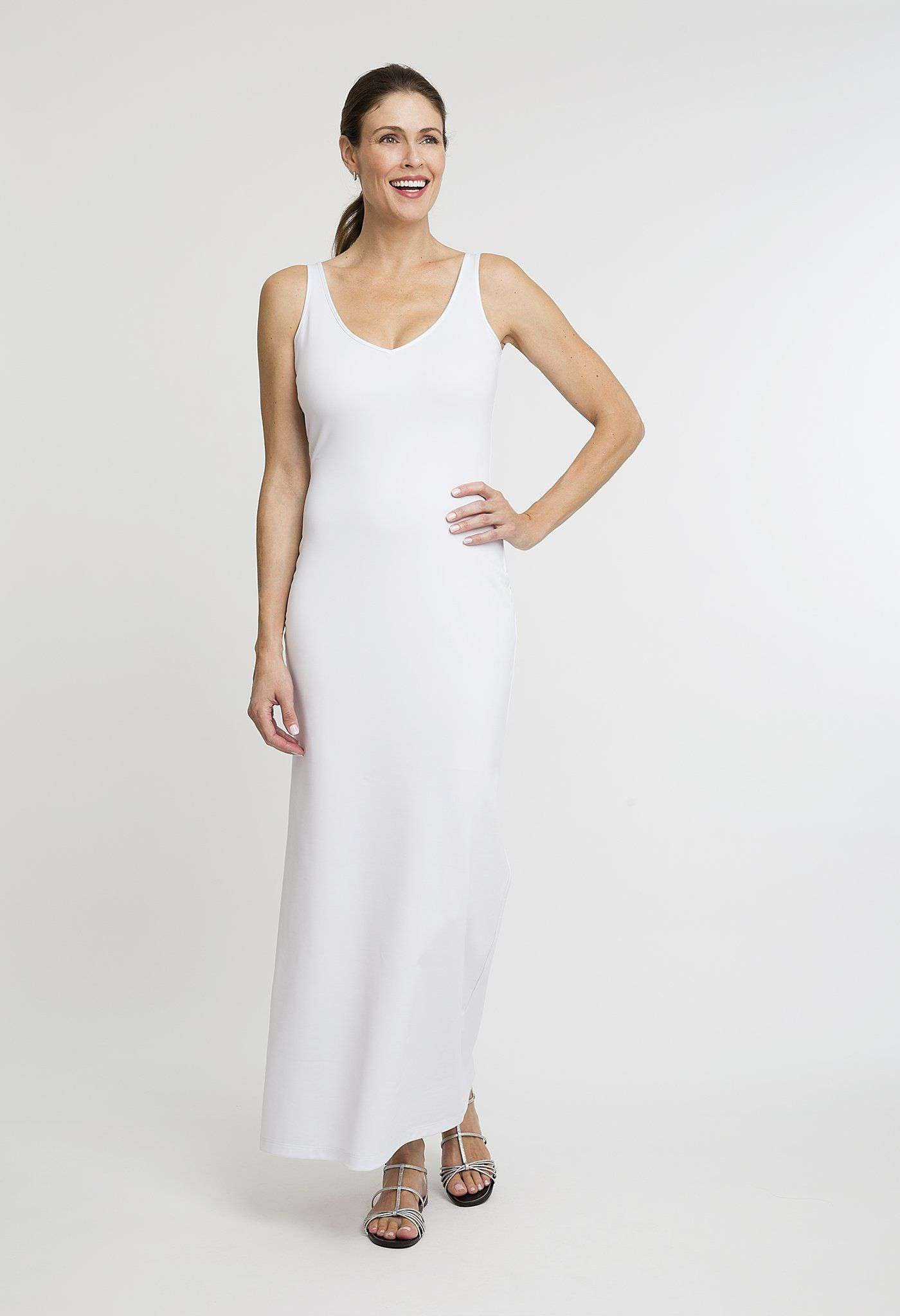 Lavinia Long Dress in White
