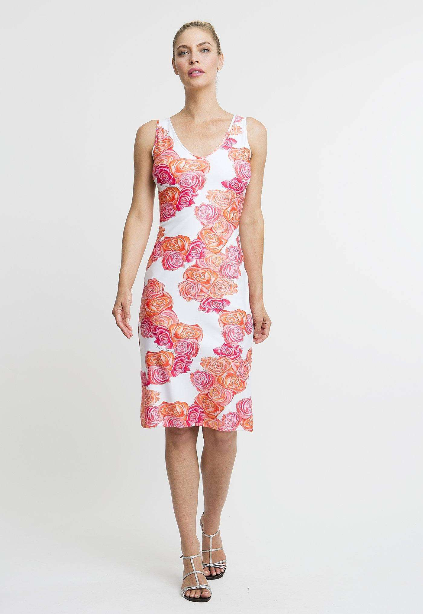 Lavinia Short Dress in Moraine front view