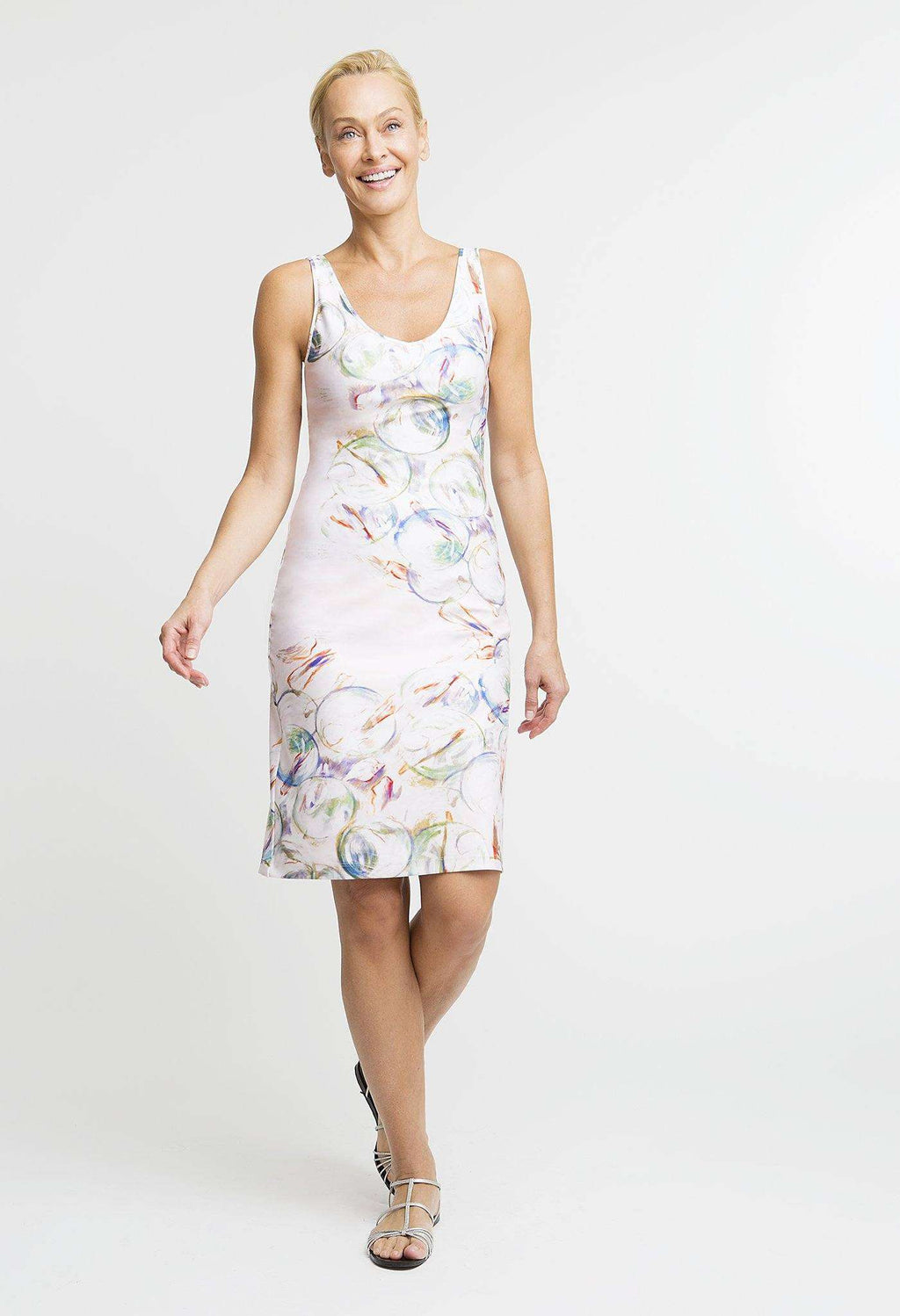 Lavinia Short Dress in Nonsuch front view