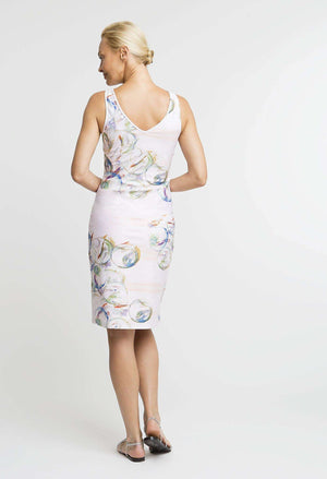 Lavinia Short Dress in Nonsuch back view