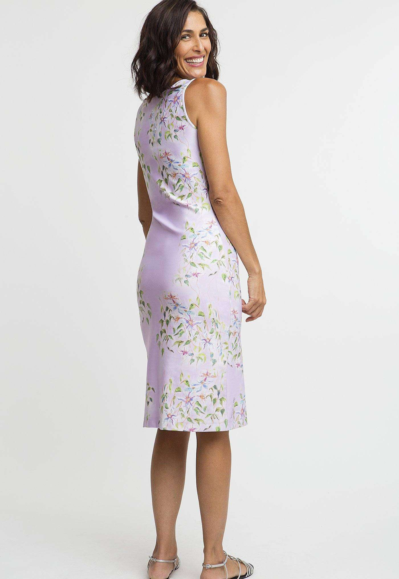 Lavinia Short Dress in Sagaponack back view