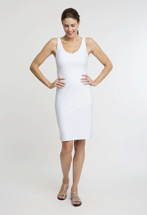 Lavinia Short Dress in White