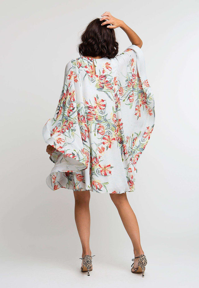 Mary Short Kaftan in Water Mill back view