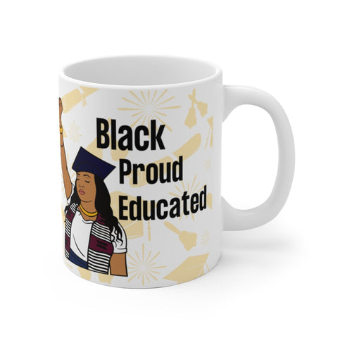Black And Educated Mug