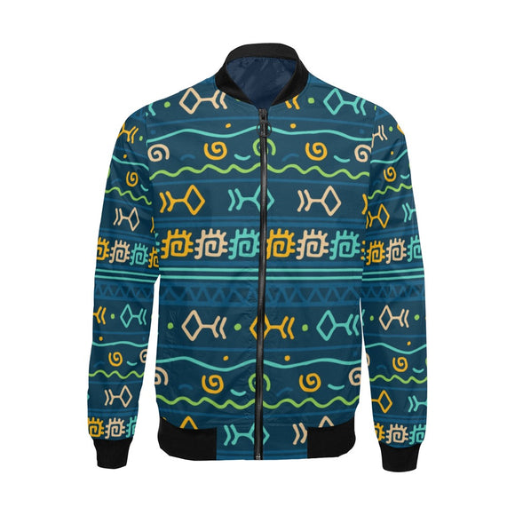 Blue Tribal Bomber