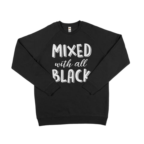Mixed With All Black Sweater