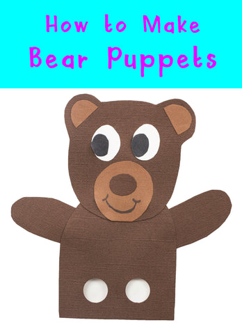 Bear Crafts | Animal Crafts | Crafts for Kids | Finger Puppets