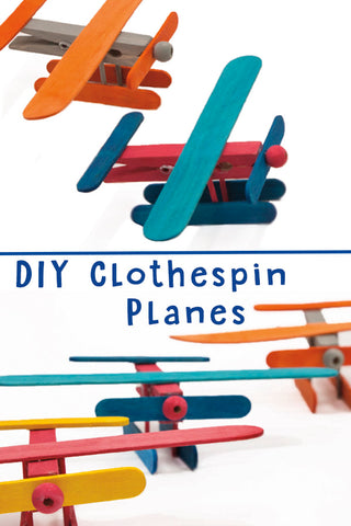 DIY Clothespin Planes | DIY Clothespin Airplanes | DIY Planes | Crafts for Kids | DIY Toys for Kids