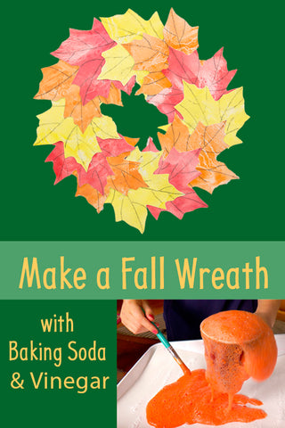 DIY Wreath | Fall Wreath | Autumn Wreath | Fall Crafts | Crafts for Kids | Baking Soda and Vinegar Experiment | Science for Kids | Science Experiment