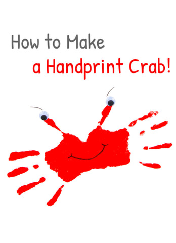 Handprint Art | Handprint Craft | Crab | Animal Handprints | Crafts for Kids