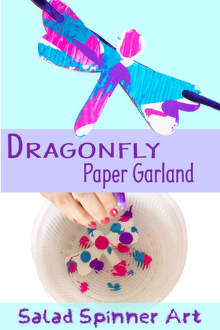 Dragonfly Paper Garland | Spin Art | Spin Painter | Fun Crafts for Kids | Easy Crafts for Kids | Easy Crafts
