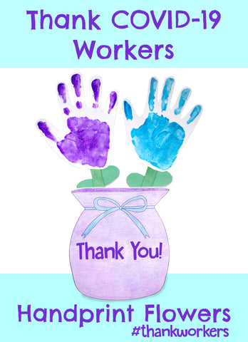 Handprint Flowers | Paper Crafts Easy for Kids | Art and Craft Paper Easy | Essential Workers Tribute
