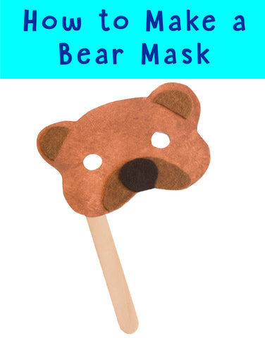 DIY Bear Mask | Bear Crafts | Animal Crafts | Crafts for Kids | Easy Crafts | DIY Masks