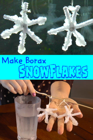 Borax Snowflakes | Crystal Borax Snowflakes | Science for Kids | Christmas Crafts | Winter Crafts | Crafts for Kids