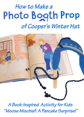 Moose Mischief | Book Activities | Winter Hat | Photo Booth Props | Winter Crafts | Crafts for Kids