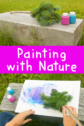 Painting With Nature | DIY Nature Paint Brushes | Art and Craft | Easy Crafts for Kids | Craft Ideas for Kids | Crafts for Kids | DIYs for Kids