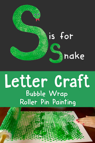Snake Crafts | Bubble Wrap Painting | Roller Pin Painting | Letter Crafts | Alphabet Activities