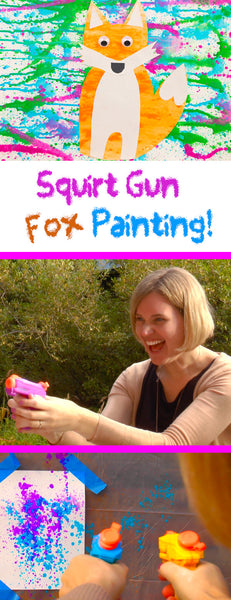 Fox Crafts | Squirt Gun Painting | Crafts for Kids | Easy Crafts | Kids Activity | Summer Crafts | Outdoor Activities for Kids