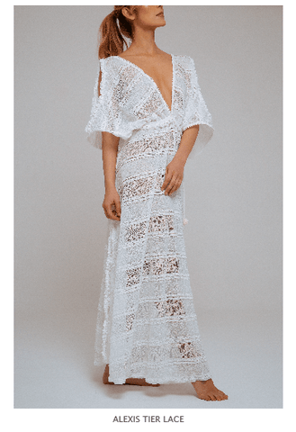 ALEXIS TIER LACE DRESS - Villa Yasmine