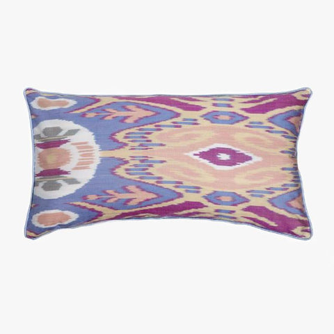 BLUE AND PEACH RECTANGULAR CUSHION COVER - Villa Yasmine