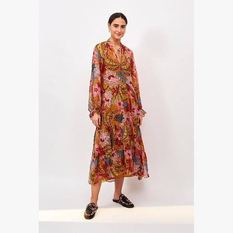 Banana Floral Maxi Dress - Villa Yasmine