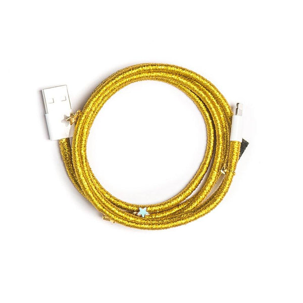 Metallic Gold Charger Cable - Villa Yasmine