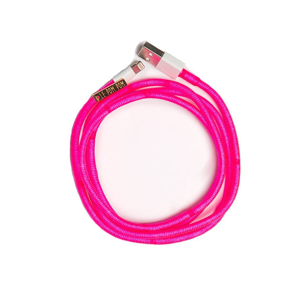 Neon Pink Charger Cable - Villa Yasmine