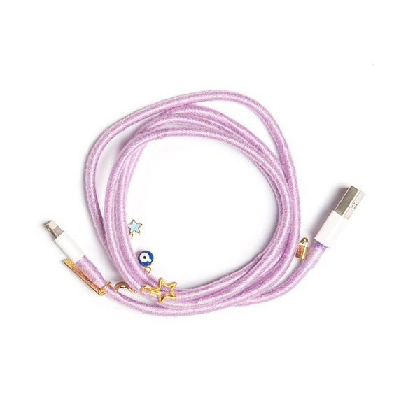 Lilac Charger Cable - Villa Yasmine