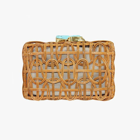 Chloe Clutch Natural - Villa Yasmine